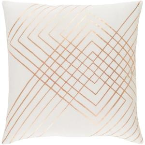 Eversholt Cream Geometric Polyester 20 in. x 20 in. Throw Pillow