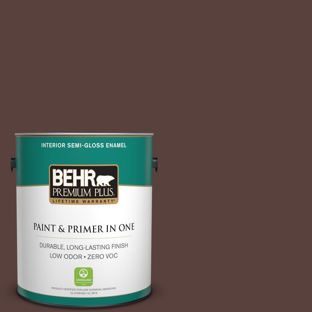 BEHR Premium Plus 1-gal. #140F-7 Embarcadero Zero VOC Semi-Gloss Enamel Interior Paint