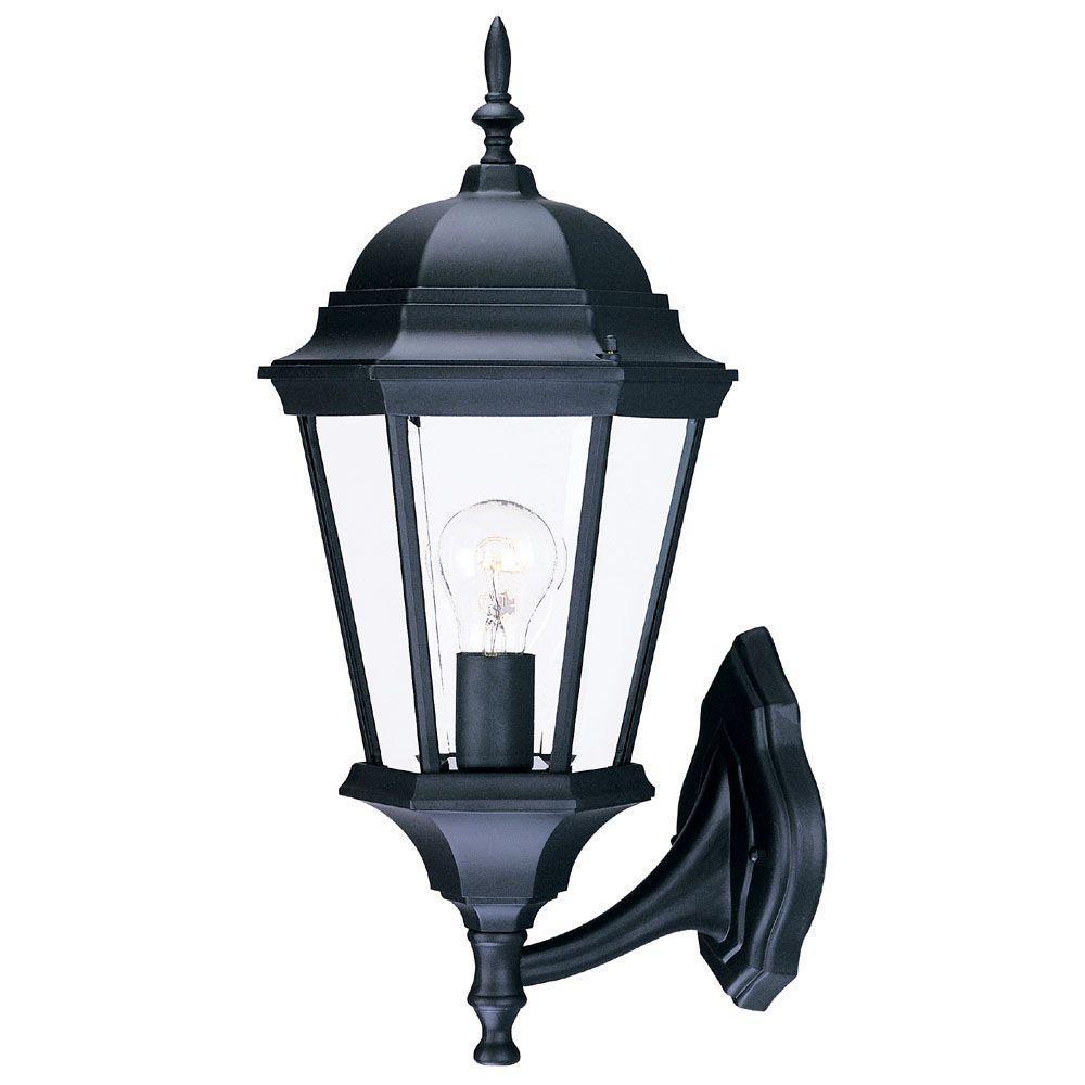 Richmond Collection 1-Light Matte Black Outdoor Wall-Mount Light Fixture