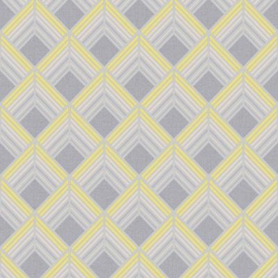 Trifina Geo Yellow, Grey and Silver Removable Wallpaper Sample