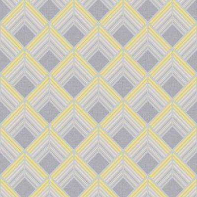 Art Deco Yellow Paper Wallpaper Home Decor The Home Depot