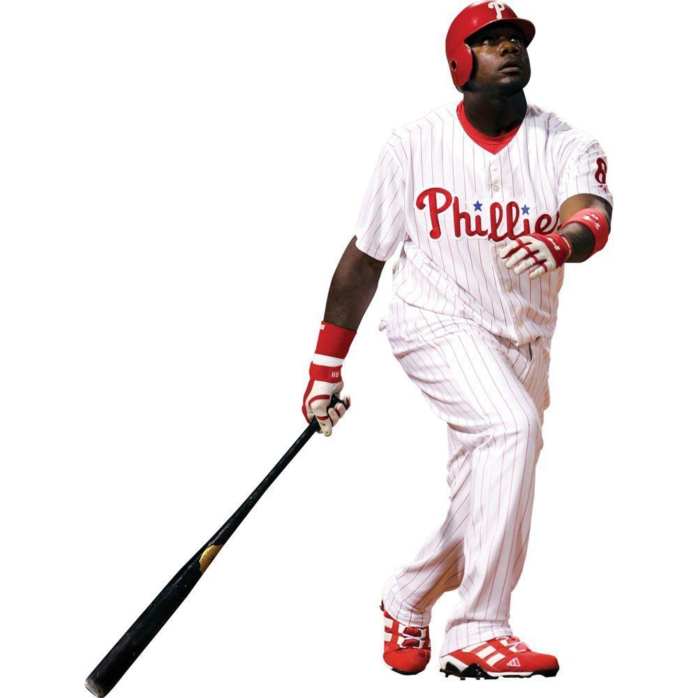 Fathead 54 in. x 72 in. Ryan Howard Philadelphia Phillies Wall Decal
