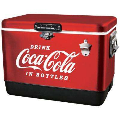 54 Qt. Stainless Steel Coca-Cola Ice Chest Cooler