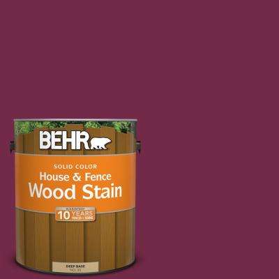 1 gal. #BIC-51 July Ruby Solid Color House and Fence Exterior Wood Stain