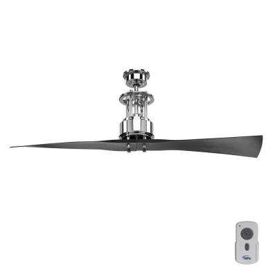 Spades 56 in. Indoor Polished Chrome Modern Ceiling Fan with Remote