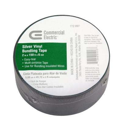2 in. x 150 ft. Vinyl Electrical Bundling Tape - Silver