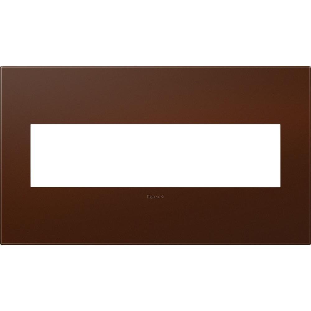 Legrand adorne 4-Gang 4 Module Wall Plate - Soft Touch Russet