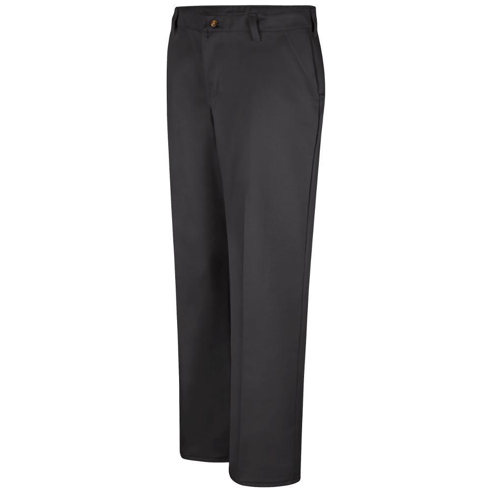 55e24b3ae Red Kap Women's 12 in. x 30 in. Black Women's Plain Front Cotton Pant