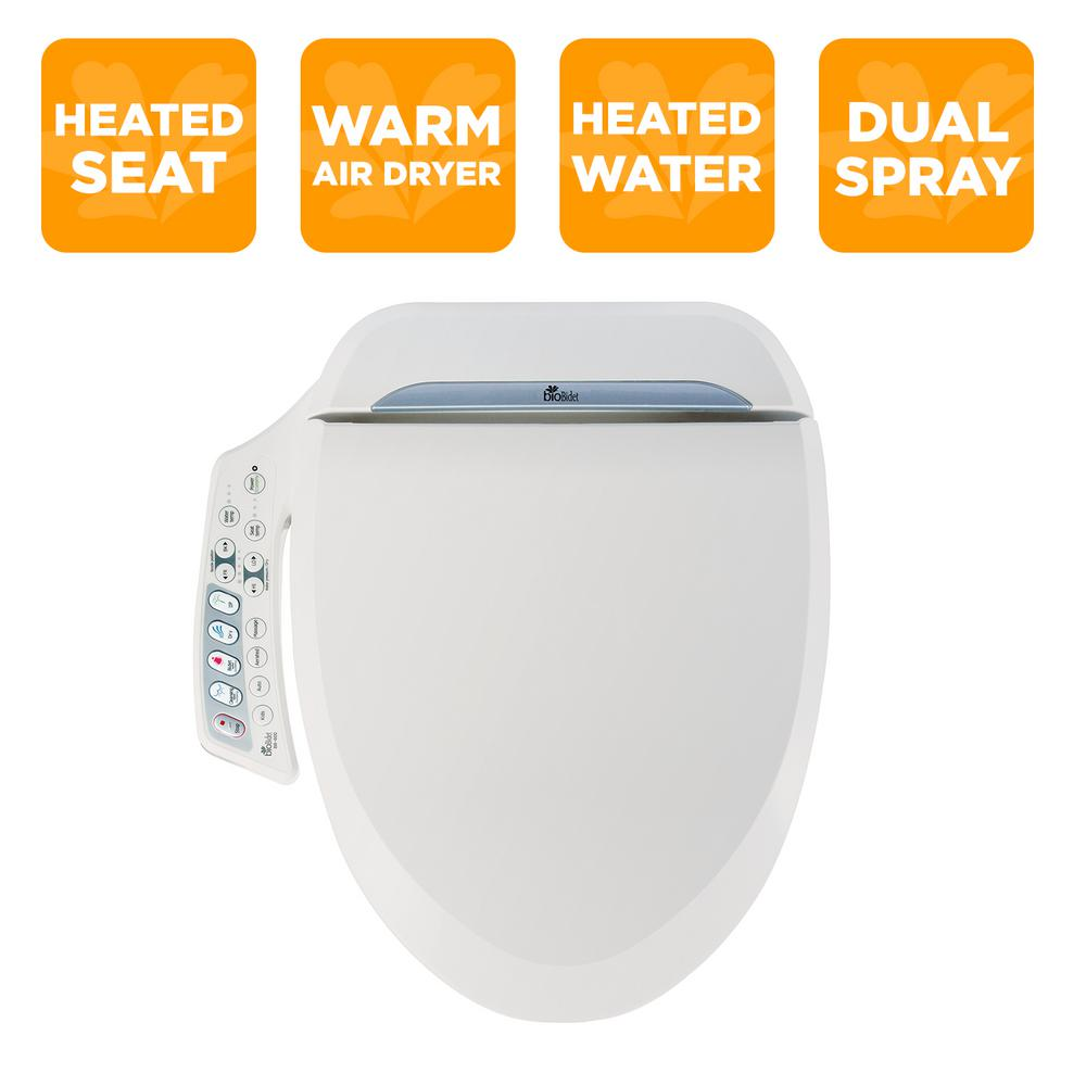 Marvelous Biobidet Ultimate Series Electric Bidet Seat For Elongated Toilets In White Theyellowbook Wood Chair Design Ideas Theyellowbookinfo