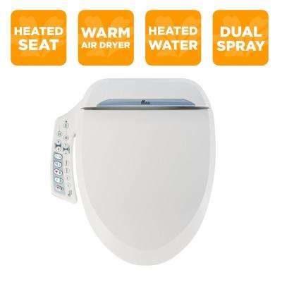 Ultimate Series Electric Bidet Seat for Elongated Toilets in White