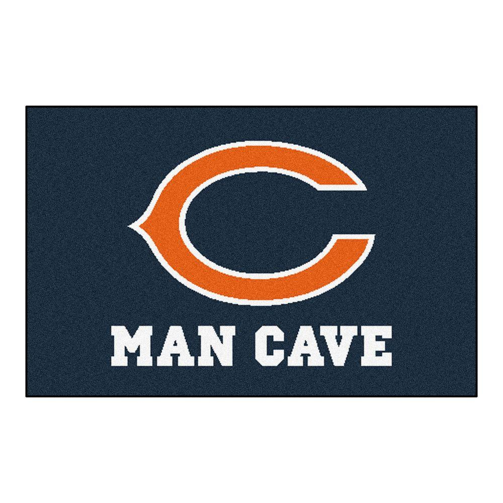 Fanmats Nfl Chicago Bears Blue Man Cave 1 Ft 7 In X 2 Ft