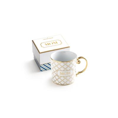 Charm School 10 oz. White and Gold Mom Coffee Mug