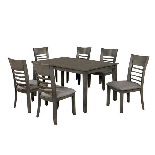 Hillsview Gray 6 Piece Table Set