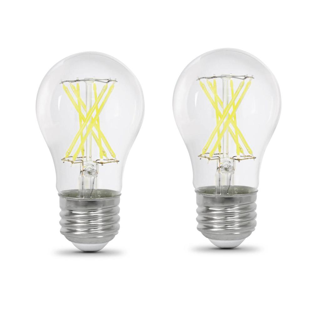 60-Watt Equivalent A15 Dimmable Filament LED 90+ CRI Clear Glass Light