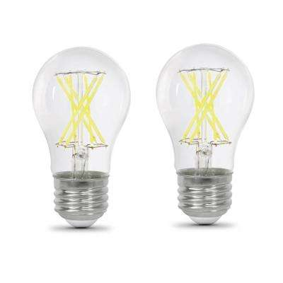 60-Watt Equivalent A15 Dimmable Filament LED 90+ CRI Clear Glass Light Bulb, Daylight (2-Pack)