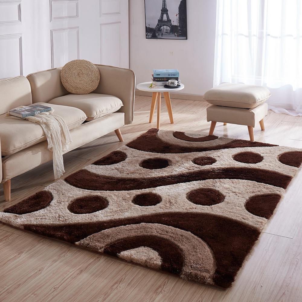 Casa Regina Shaggy Collection 3d Design Abstract Waves Circles