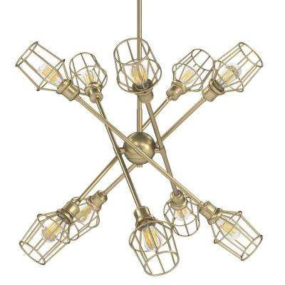 Axel 10-Light Olympic Gold Sputnik Chandelier