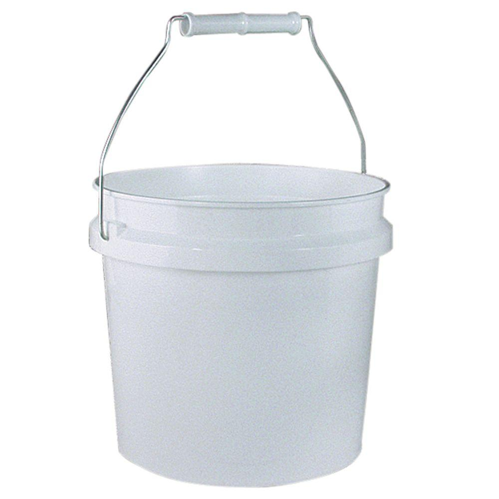 Leaktite 1 Gal White Plastic Pail Pack of 3 209314 The Home Depot