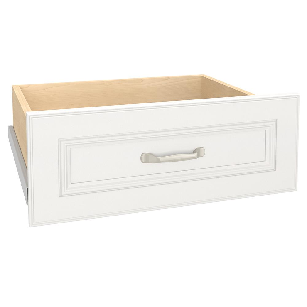 Closetmaid Impressions 21 54 In X 8 7 In White Deluxe Wood Drawer