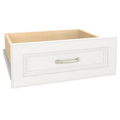 Impressions 22 in. W x 9 in. H White Deluxe Wood Drawer Kit for 25 in. W Impressions Tower