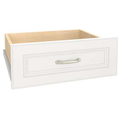 Impressions 25 in. W x 10 in. H White Deluxe Drawer Kit