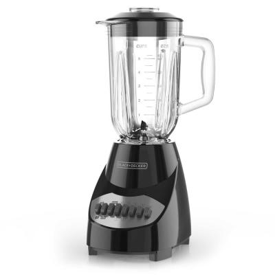 BLACK+DECKER-40 oz. 10-Speed Black Countertop Blender with 5-Cup Glass Jar