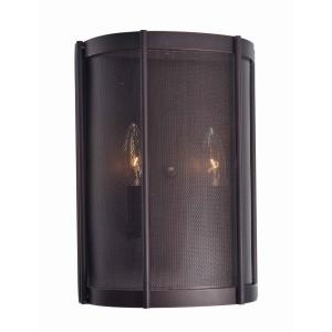 HomeDepot.com deals on World Imports Xena Collection 2-Light Euro Bronze Wall Sconce