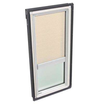 30-1/16 in. x 45-3/4 in. Fixed Deck-Mount Skylight with Laminated Low-E3 Glass and Beige Manual Room Darkening Blind