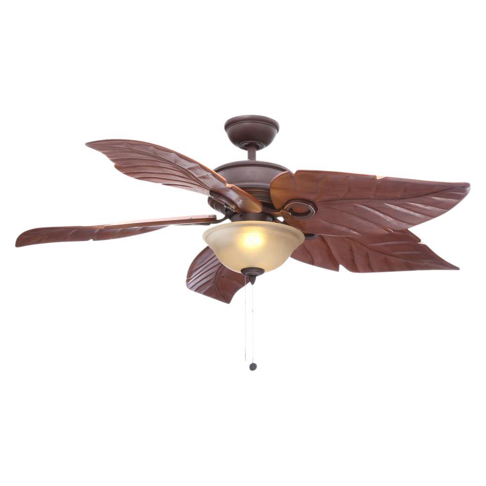 Hampton Bay Costa Mesa 56 in. LED Indoor/Outdoor Mediterranean Bronze Ceiling Fan with Light Kit