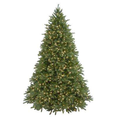 9 ft. Feel-Real Jersey Fraser Fir Hinged Artificial Christmas Tree with 1500 Clear Lights