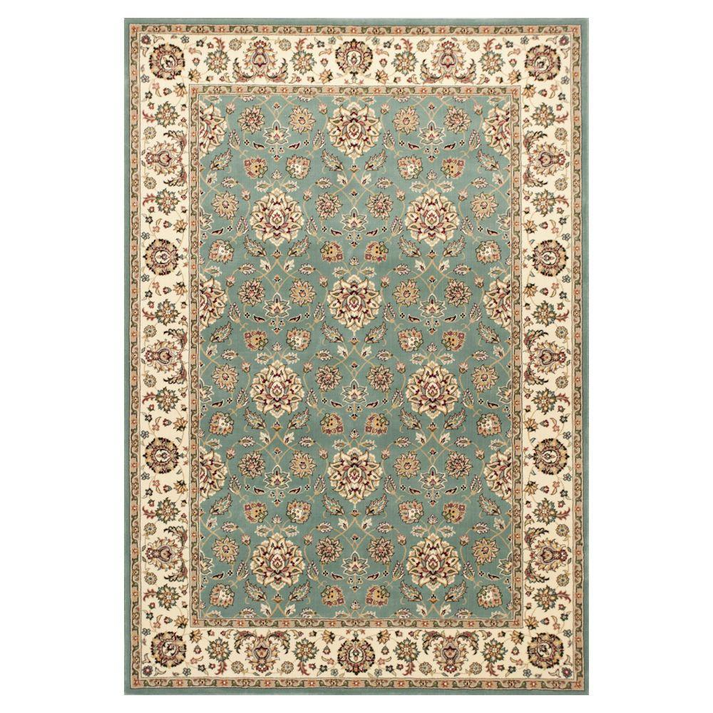 Classic Studio Blue/Ivory 3 ft. 3 in. x 4 ft. 11
