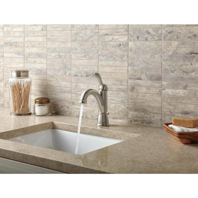 Porter Single Hole Single-Handle Bathroom Faucet in Brushed Nickel