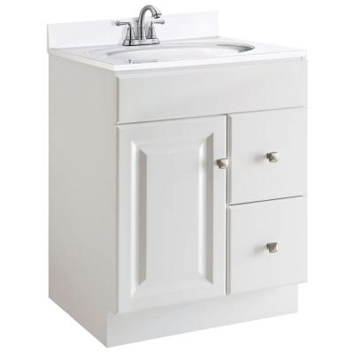 Wyndham 24 in. W x 21 in. D Unassembled Bath Vanity Cabinet Only in White Semi-Gloss