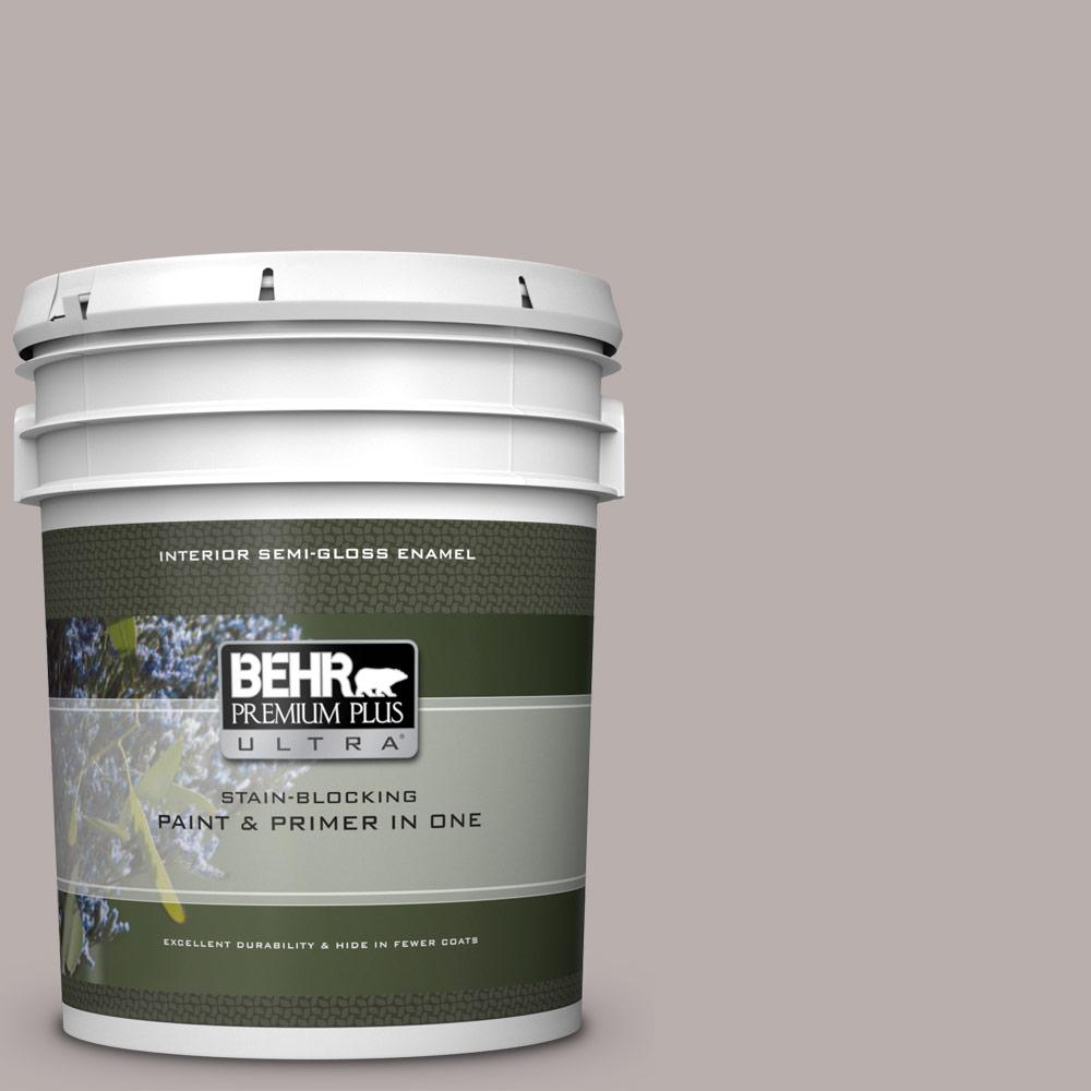 1aad69873717 BEHR Premium Plus Ultra 5 gal.  PPU17-11 Vintage Mauve Semi-Gloss Enamel  Interior Paint and Primer in One