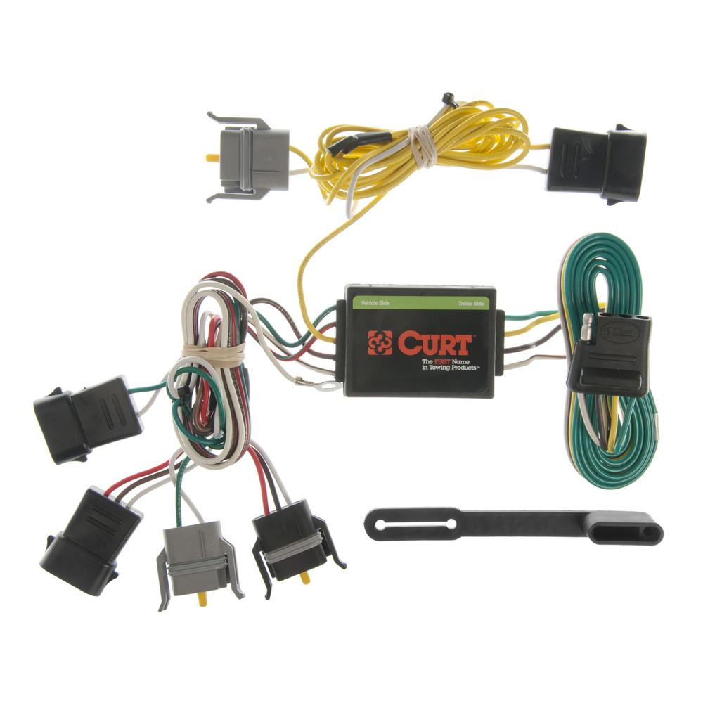 CURT Custom Vehicle-Trailer Wiring Harness, 4-Way Flat Output, Select Ford  Windstar, Quick Electrical Wire T-Connector-55346 - The Home DepotThe Home Depot