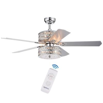 Empire 52 in. Indoor Chrome Hand Pull Chain Ceiling Fan with Light Kit