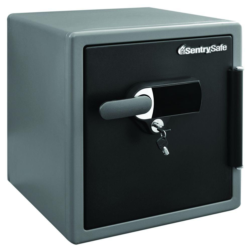 SentrySafe 1.23 cu. ft. Fire and Water Safe, Extra Large Touchscreen Safe with Dual Key Lock and Alarm