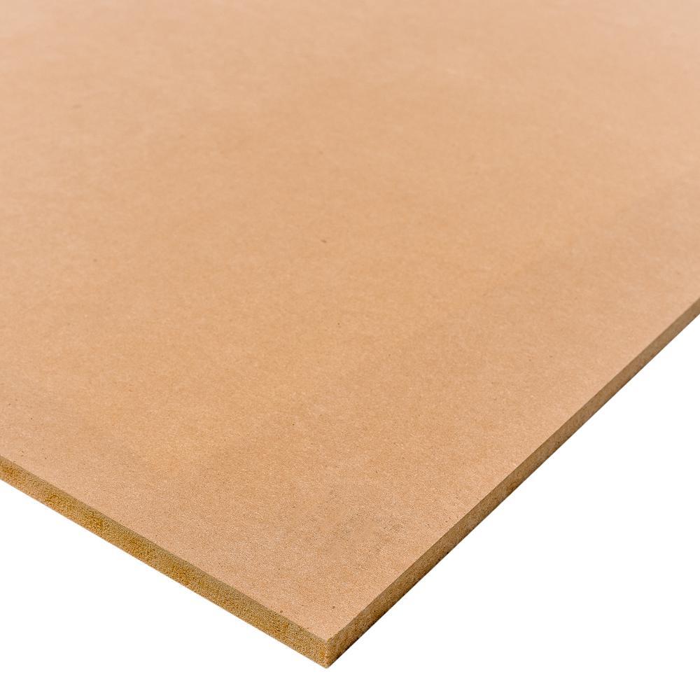 Medium Density Fiberboard (Common: 3/4 in.x 2 ft. x 4 ft.; Actual: 0.734 in. x 23.75 in. x 47.75 in.)