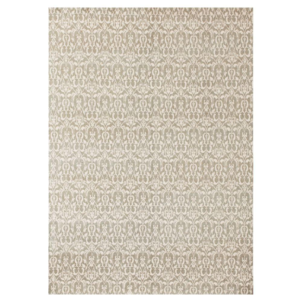 Kas Rugs Elegant Brocade Ivory 3 ft. 3 in. x 5 ft. 3 in. Area Rug