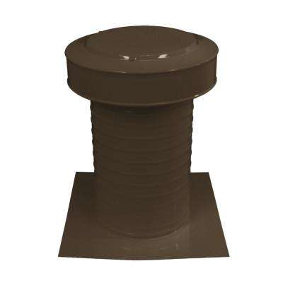 8 in. Dia Keepa Vent an Aluminum Static Roof Vent for Flat Roofs in Brown