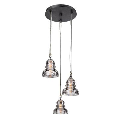 Menlo Park 3-Light Old Silver Pendant