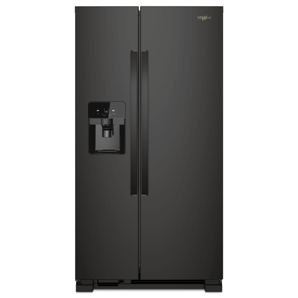 Whirlpool 21 Cu Ft Side By Side Refrigerator In Black