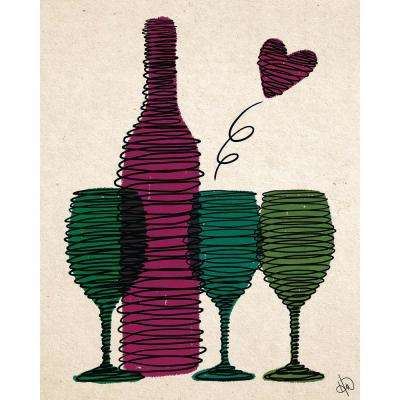 "20 in. x 24 in. ""Spiraling Wine"" Planked Wood Wall Art Print"