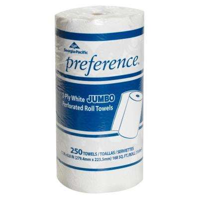 Preference White Jumbo Perforated Roll Paper Towels (250 Sheets per Roll 12/Carton)