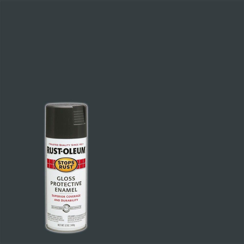 12 oz. Protective Enamel Gloss Charcoal Gray Spray Paint