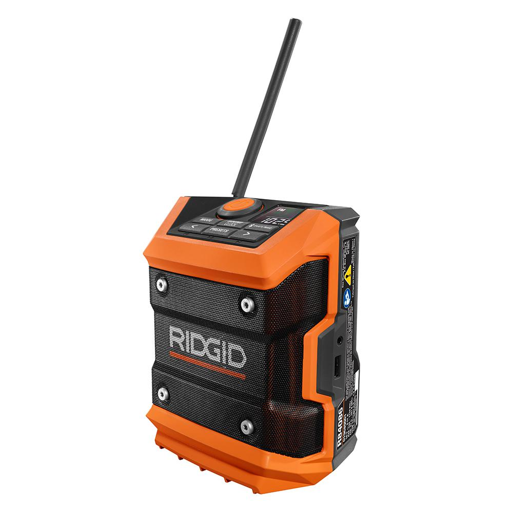 Tool Only RIDGID R84086 18V 18-Volt Cordless Mini Bluetooth Radio W// Radio App