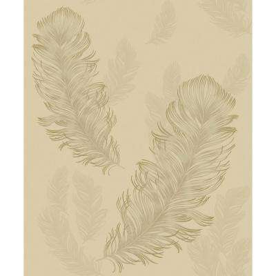 Sirius Gold Non-Pasted Wallpaper, Covers 57.26 sq. ft.
