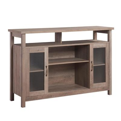 35 in. Light Gray Buffet Server Sideboard Console Table Cupboard Table Storage Organizer For Kitchen and Dining Room
