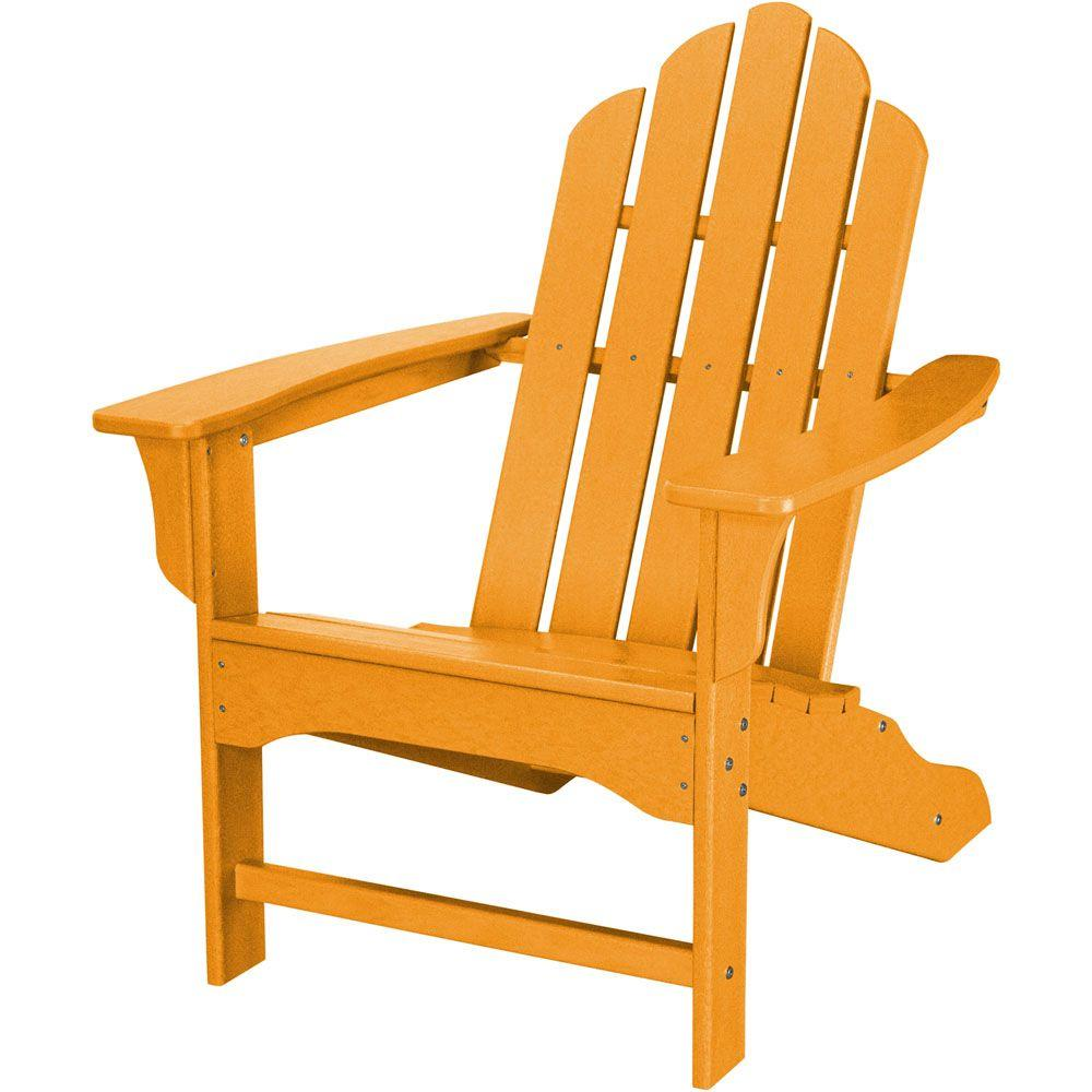 Hanover All Weather Patio Adirondack Chair In Tangerine Orange