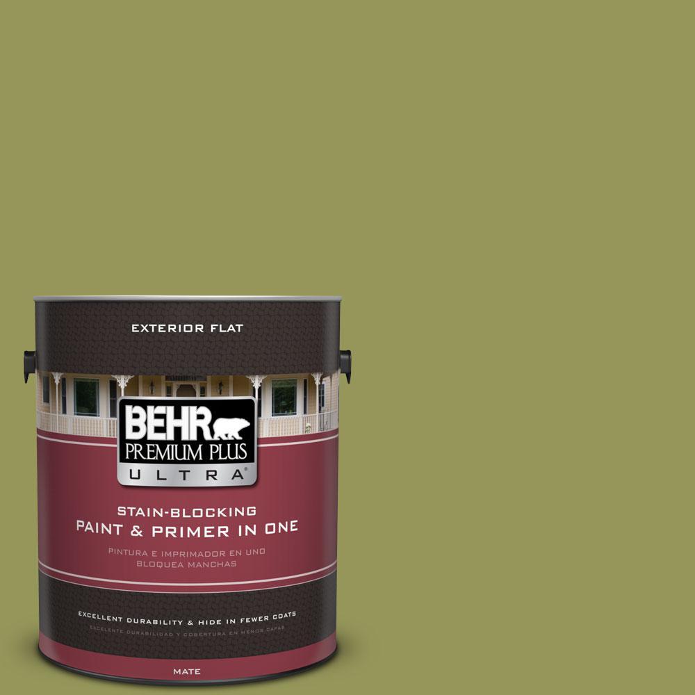 BEHR Premium Plus Ultra 1-gal. #M340-6 Spinach Dip Flat Exterior Paint